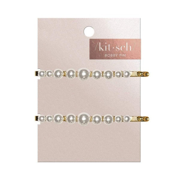 kitsch Pearl Bobby Pins 2pc