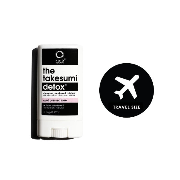 kaia naturals the takesumi detox charcoal deodorant cold pressed rose travel size