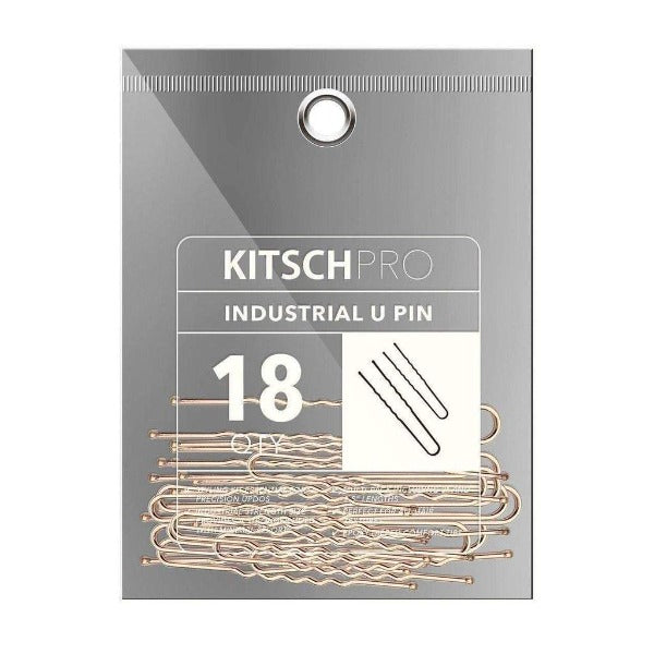 kitsch Industrial U Bobby Pins 18pc (Rose Gold)