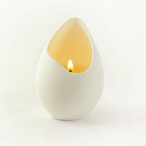 Bone China oval shape candle