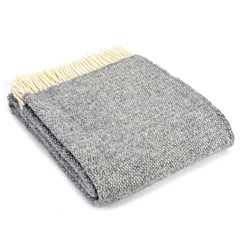 Wool Throw - Scandi Grey