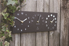Recycled Time/Temp/Moon Clock