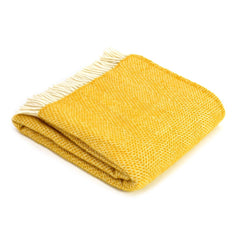 Wool Throw - Yellow