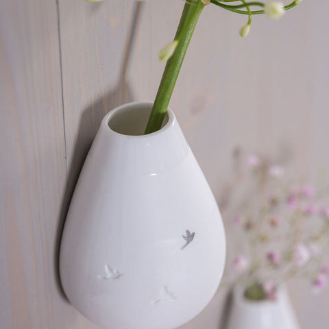 Porcelain wall vase