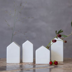 Mini house vases - set of 4