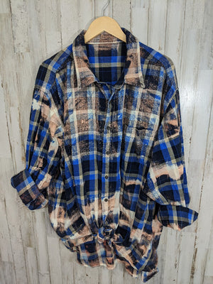 Distressed Flannel-3XL