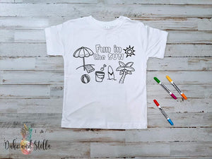 Childrens Coloring Tee