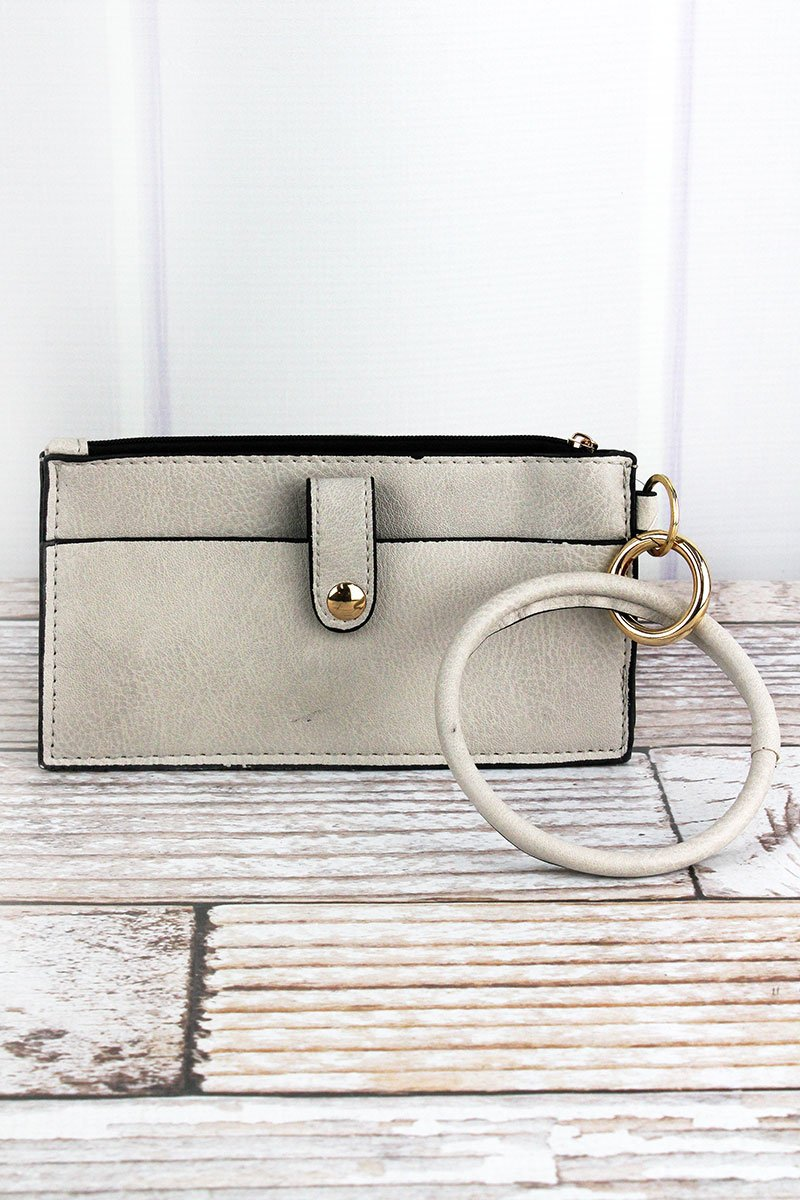 Bangle Key Ring with Pouch