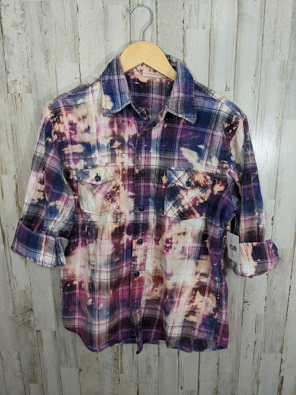 Distressed Flannel-SMALL/LARGE