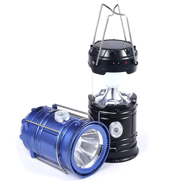 Ultrahelle Camping LED Laterne mit Solar (6 LED´s)