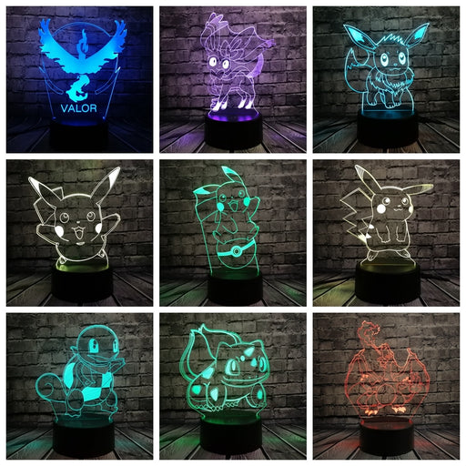 Pokemon 3D LED Lampe
