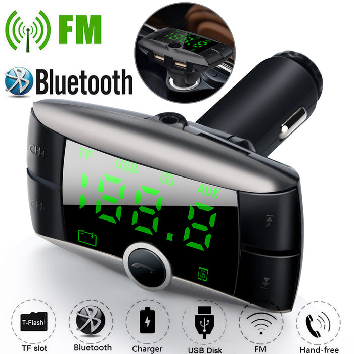 Wireless Bluetooth FM Transmitter Modulator Car Kit MP3 Player Dual USB Car Handyladegerät