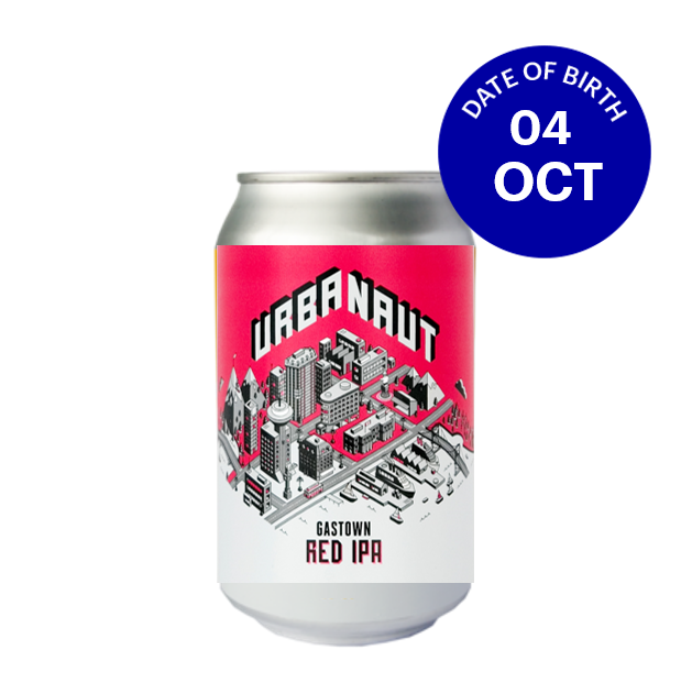 [10|04] Urbanaut Gastown Red IPA 5.8% 6x330ml Cans