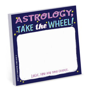 Emily McDowell Astrology Take the Wheel Sticky Notes