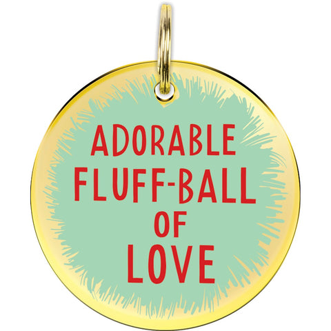 Adorable Fluff-Ball of Love Dog Collar Charm