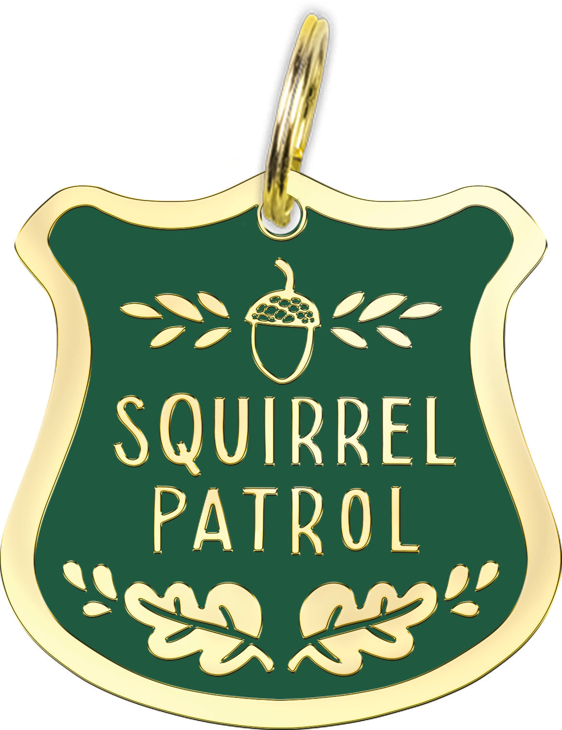 Squirrel Patrol Dog Collar Charm