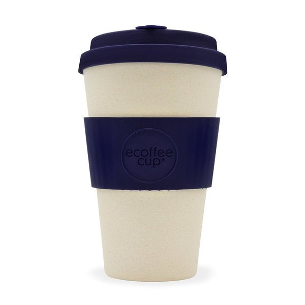 Ecoffee Cup, Natural / Navy, 14oz.