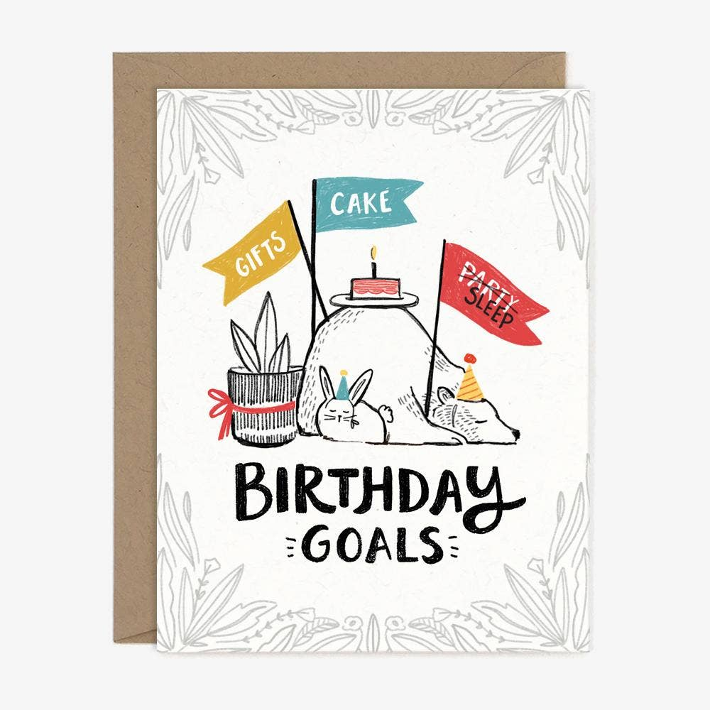 Paper Pony Co. Birthday Goals Card
