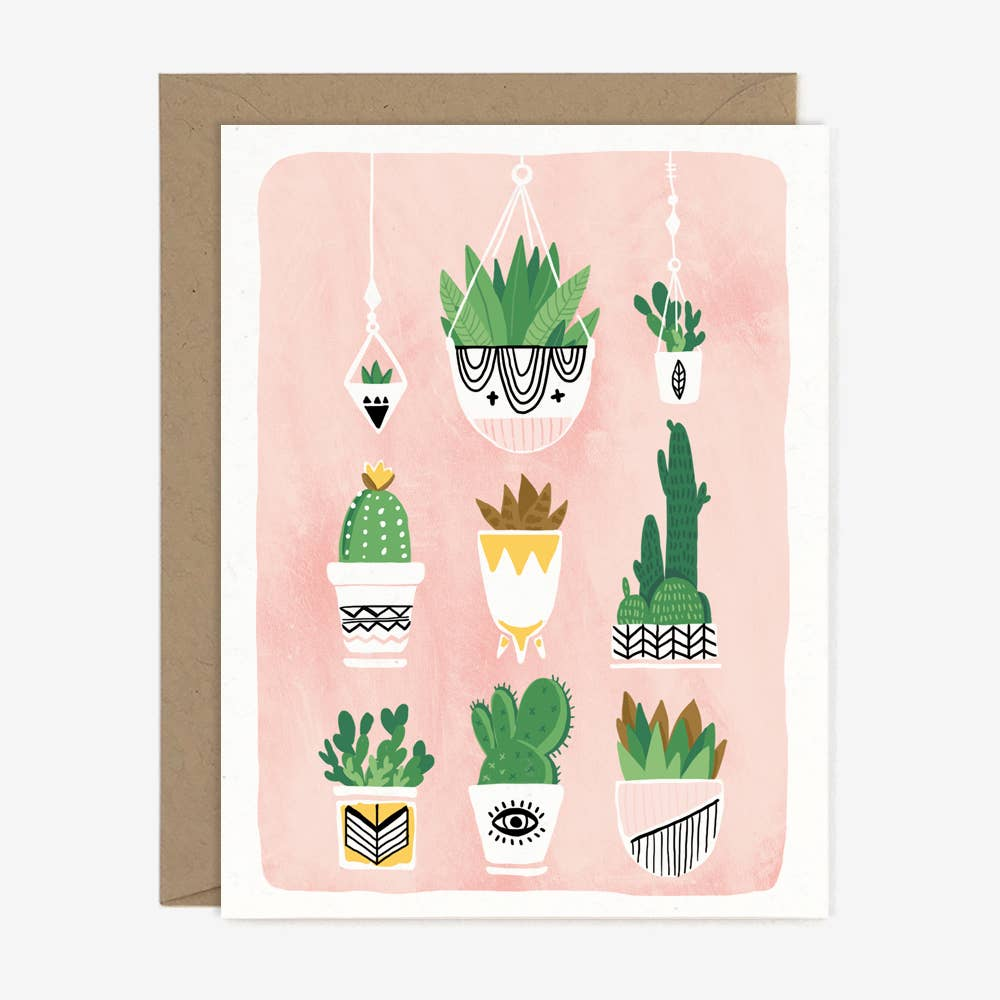 Paper Pony Co. Cactus Plants Card