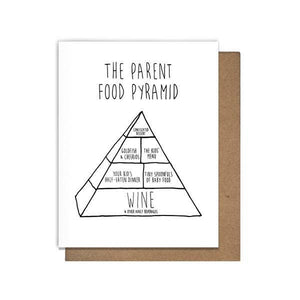 Pretty Alright Goods The Parent Food Pyramid Card