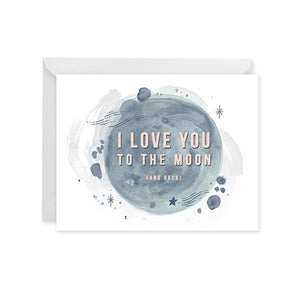 Paper Raven I Love You To The Moon (And Back) Card
