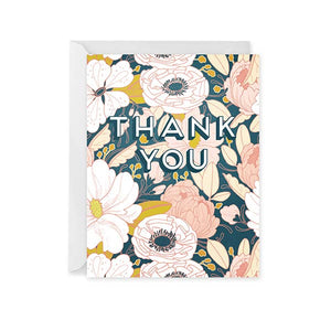 Paper Raven Thank You Floral Card