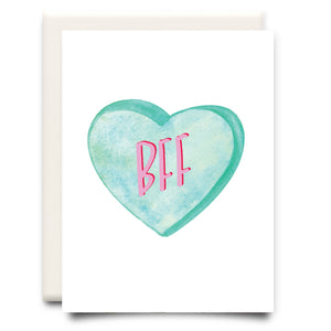 BFF Candy Heart Card