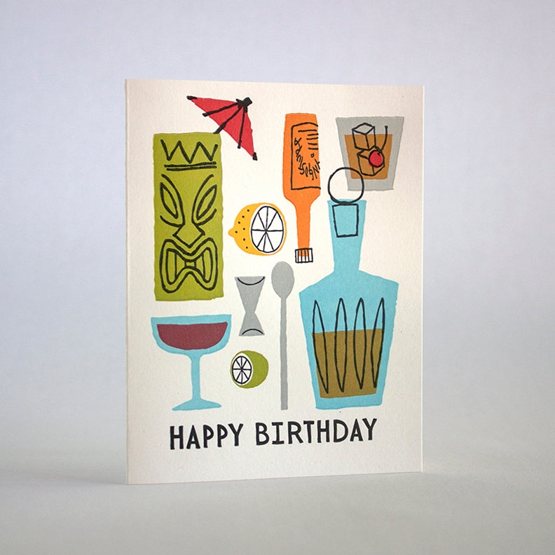 Happy Birthday Cocktail Card
