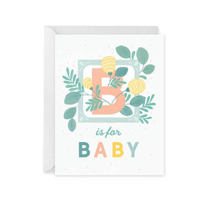Paper Raven B Is For Baby Card