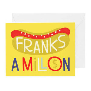 Hip Hip Franks A Million Card