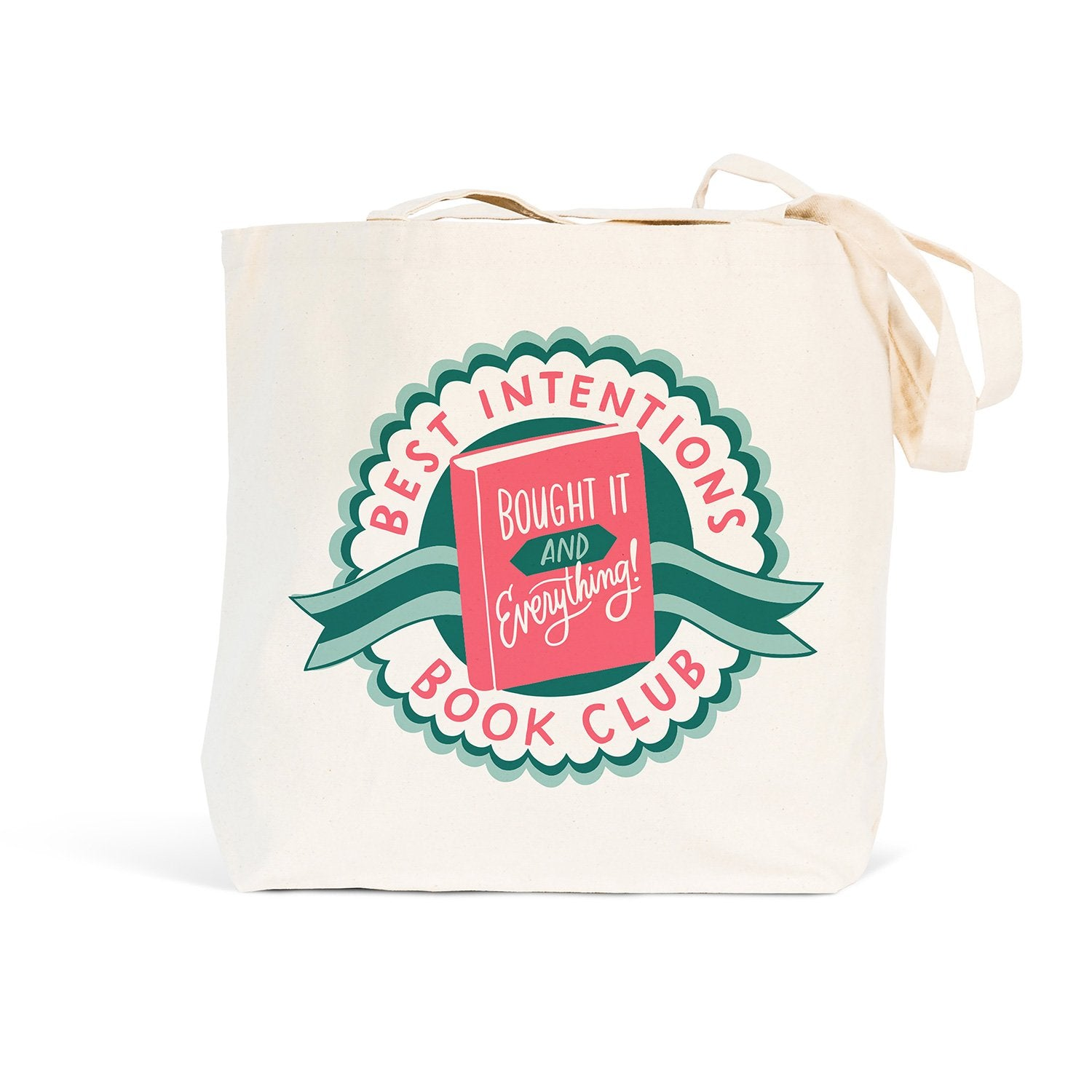Emily McDowell + Friends Best Intentions Book Club Tote