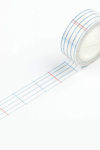 15mm Washi Tape, Notebook Ruled Lines