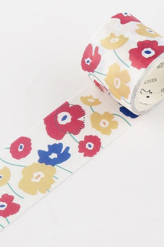 30mm Washi Tape, Poppies
