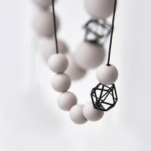 Pursuits Bonbons Necklace, Grey & Black