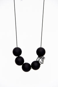 Pursuits Bonbons Necklace, Matte Black