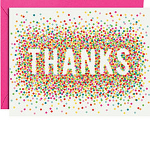 Confetti Thank You Cards, Package of 10