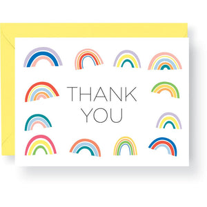 Rainbow Thank You Cards, 10 Cards & Envelopes