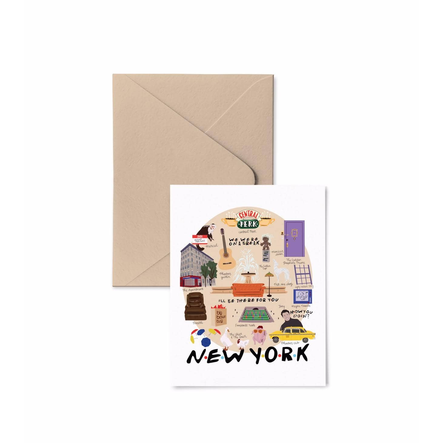 Friends New York Map Card