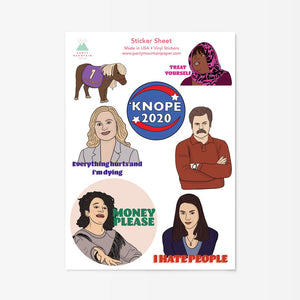 Party Mountain Parks & Rec Sticker Sheet
