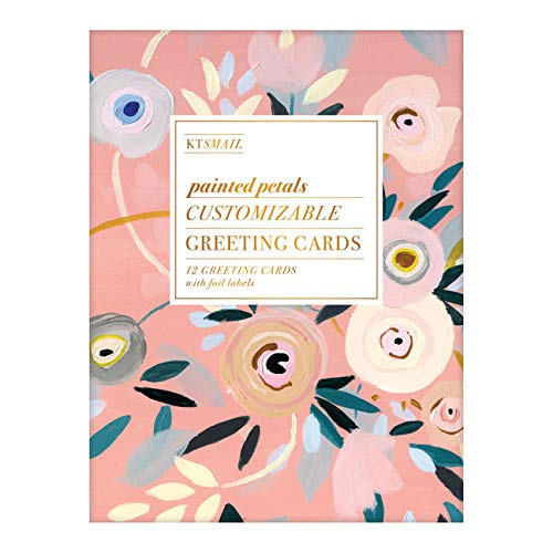 Painted Petals Customizable Greeting Cards