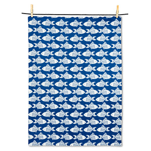 Swimming Fish Tea Towel
