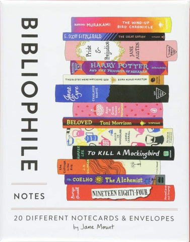 Bibliophile: 20 Different Notecards & Envelopes