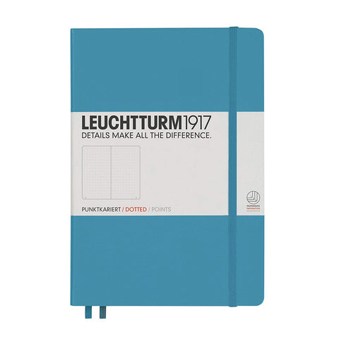 Leuchtturm 1917 Hardcover, Medium Dotted Notebook, Nordic Blue