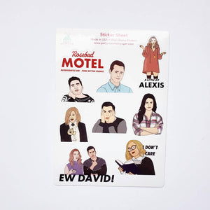 Party Mountain Schitt's Creek Sticker Sheet