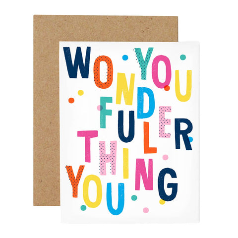 Hip Hip You Wonderful Thing Card