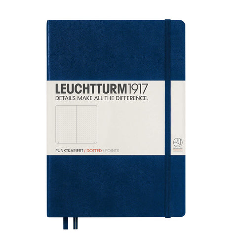 Leuchtturm 1917 Hardcover, Medium Dotted Notebook, Navy Blue