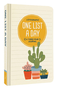 Listography One List a Day: A Three-Year Journal