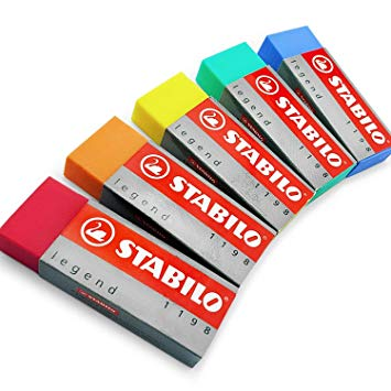 Stabilo Legend Eraser, Mixed Colours