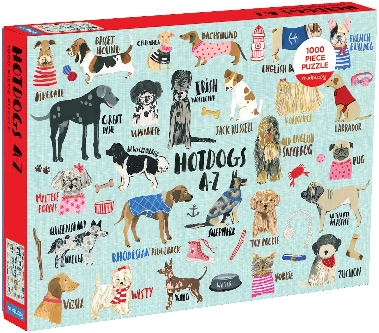 Hot Dogs A-Z, 1000 Piece Puzzle