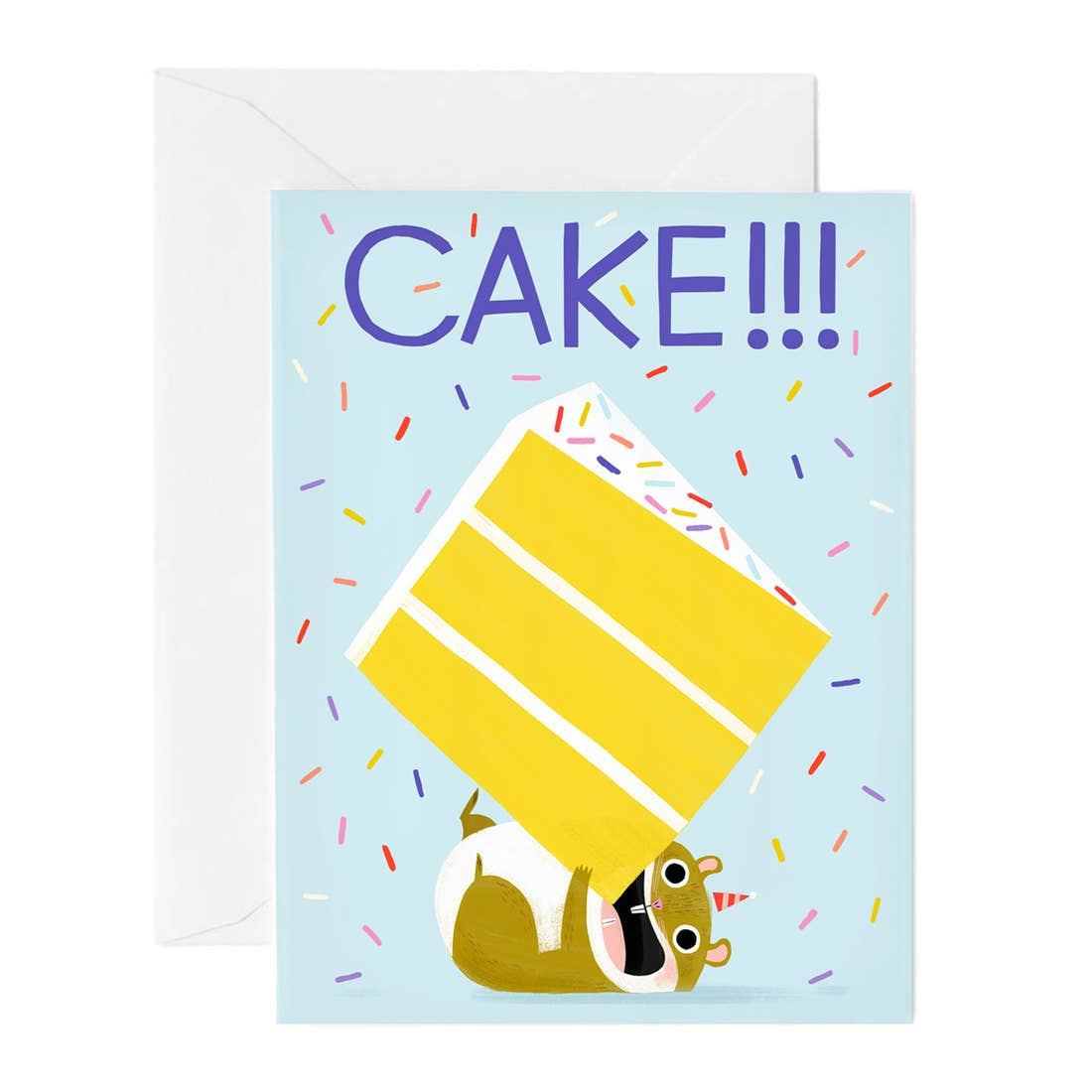 Hip Hip Cake Hamster Birthday Card